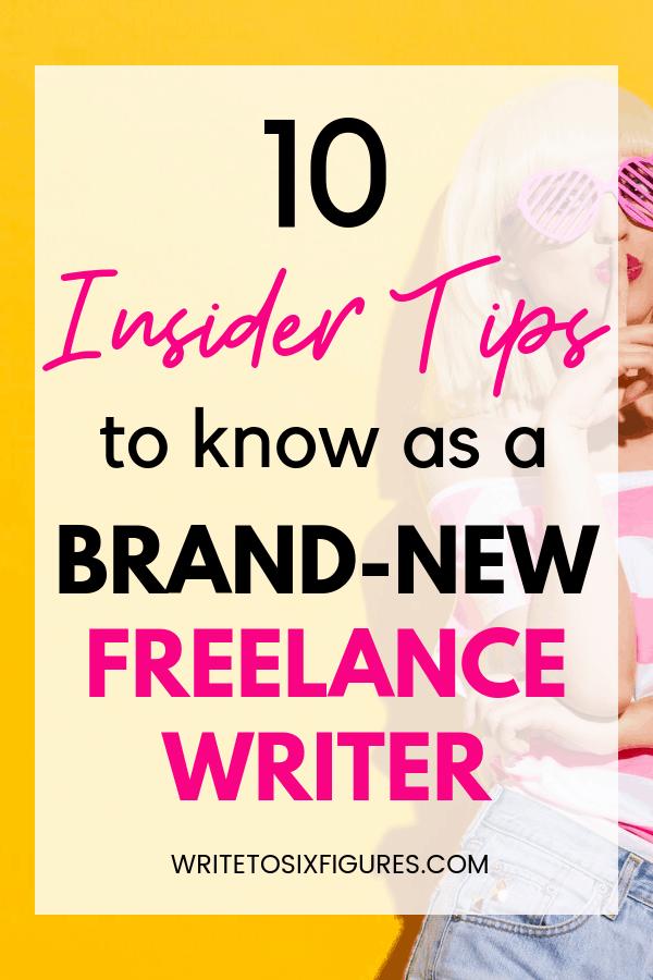 new freelance writer