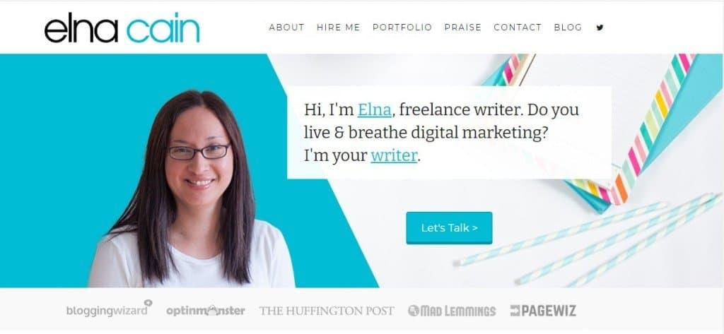 elna cain writer website