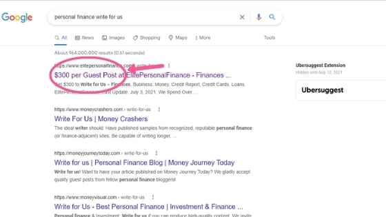 guest post search results